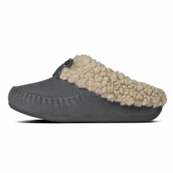fitflop womens the cuddler snug moc charcoal