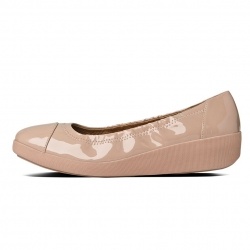 fitflop womens f pop ballerina patent nude