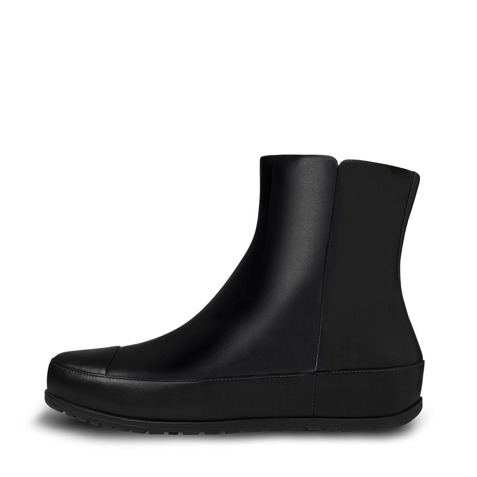 fitflop womens dueboot chelsea ankle all black