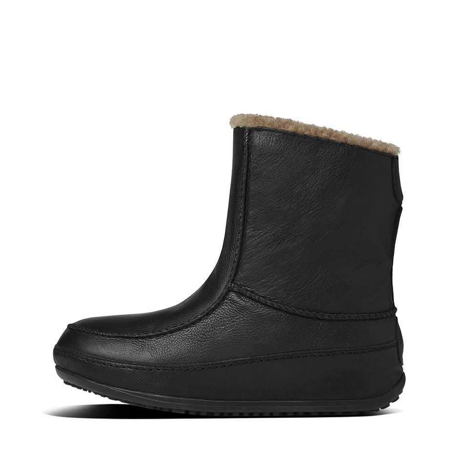 fitflop womens mukluk moc 2 leather black