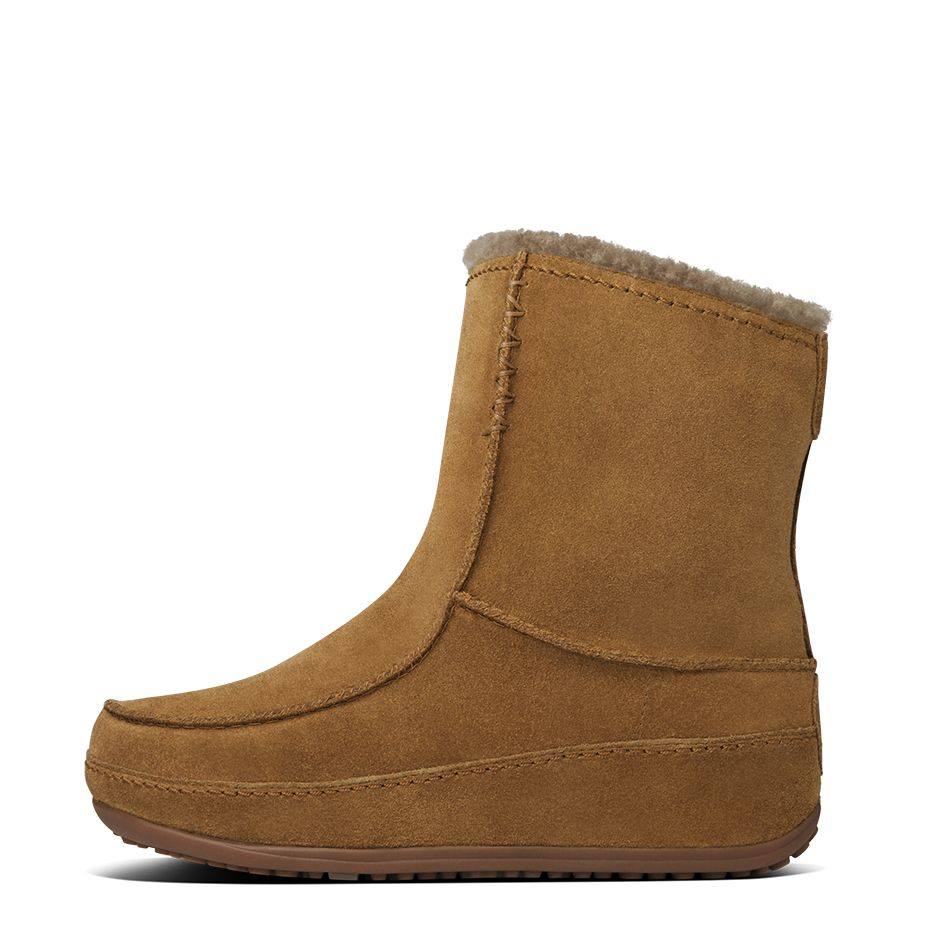 fitflop womens mukluk moc 2 suede chestnut