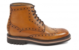 Selby Tan Brogue Boot