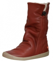 softinos ilka leather slouch mid boot red red