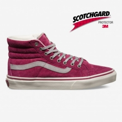 VXH7DO2 Sk8-Hi Slim (scotchgard) wine-marshmallow
